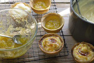 Catalan cream tarts with courgette jam | by danlepard