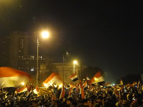 Flag of Egypt all over Tahrir Square | by RamyRaoof
