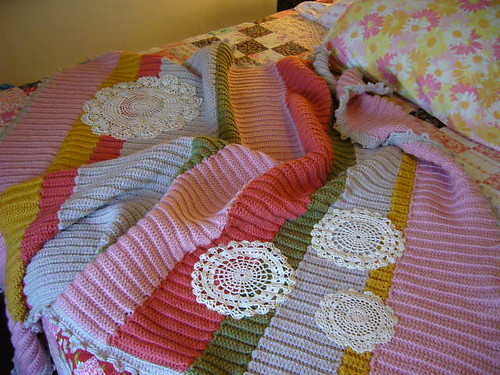 """dottie angel""-style blanket 