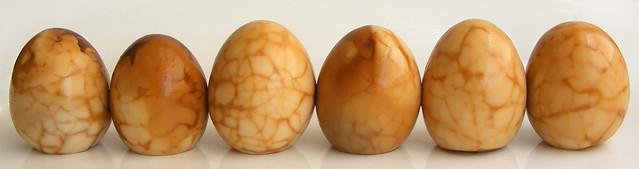 Gemarmerde thee-eieren