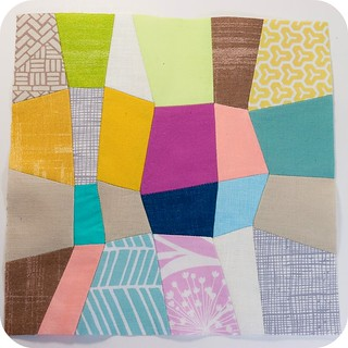 Mini Quadrilateral Quilt - finished block | by TinyApartmentCrafts