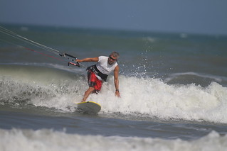 Cocoa Beach kite surfer with 500mm | by Cameralabs