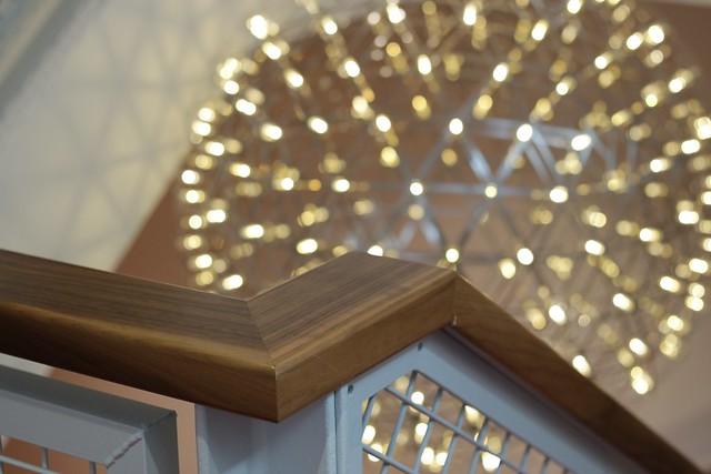 Virgin Money Lounge Sheffield stairs - lighting