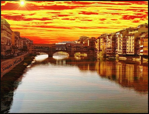 Florence submerged by the colors of the sky - (Firenze)..... Thanks for over 15000+ views | by Sugar Mind
