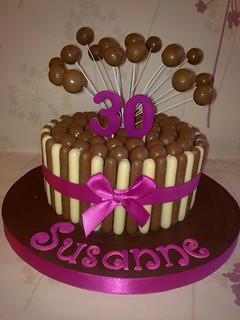Cake Art Creations By Jane : Pink Malteser Cake Flickr - Photo Sharing!
