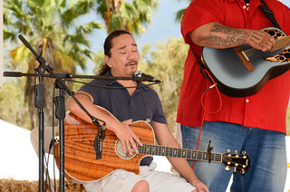 Keali`i Reichel entertaining at #MauiAgFest | by Slow Food Maui
