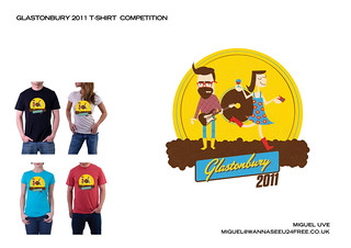 Glastonbury 2011 T-Shirt Competition - Entry | by zforvazquez
