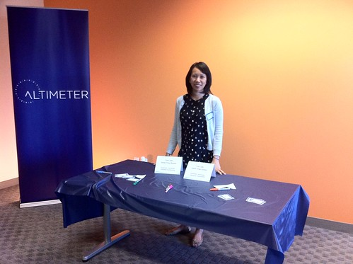 Altimeter's Christine Tran greets guests | by jeremiah_owyang