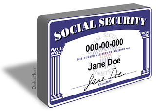 Social Security Card - Illustration | by DonkeyHotey