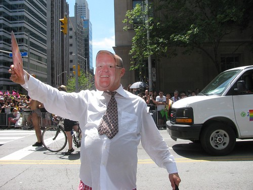 Rob Ford stand in at Pride Parade | by alfred ng (photos and paintings)