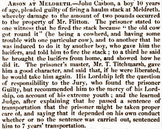 Bury Norwich Post 28Jul1852 John Casbon arson Meldreth2