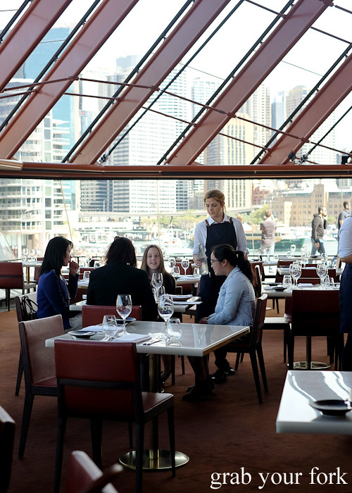 Dining room at Bennelong Restaurant Sydney