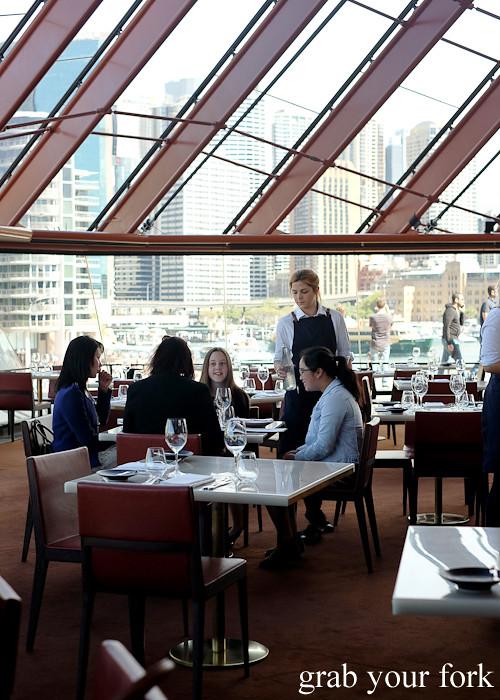 Dining room at Bennelong Restaurant Sydney