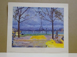 "print, 9.5x8 -- ""Le Pont de Grennelle"" (1919) by Pierre Bonhard -- Erich S. Hermann, New York -- printed in France 