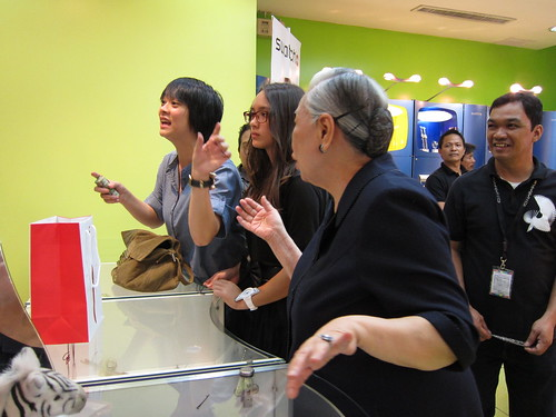 Jenni, Arianna, and Mrs. Ramos at Swatch | by chuvaness