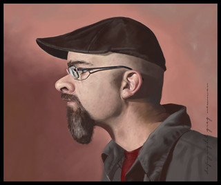 Self Portrait Caricature Painting | by greg.newman