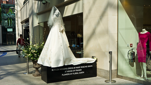The Royal Wedding (Prince William and Kate Middleton) - Replica Wedding Dress On Display In Belfast