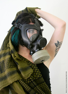 Photoshoot: Gasmask Model | by shaire productions
