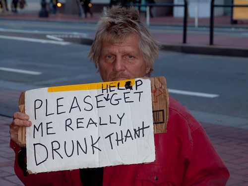John, homeless wants money to get drunk | by Franco Folini