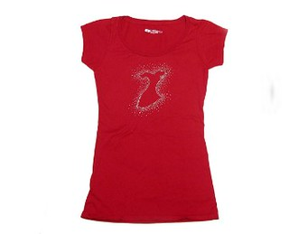 Go Red RhineStud tee | by Latina On a Mission