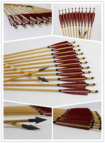 Traditional Wooden Hunting Arrows