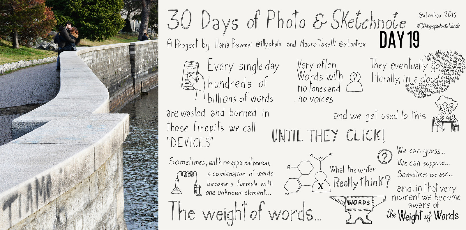 Day 19. Il peso delle parole - The weight of words