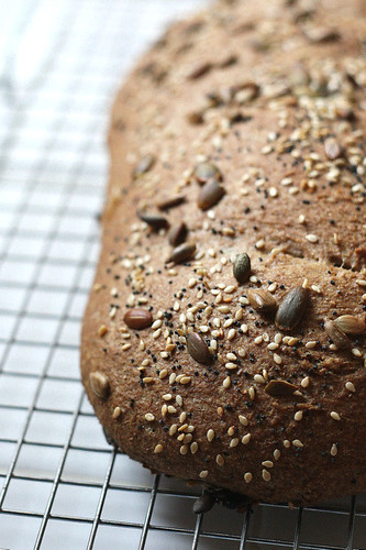 Whole Grain Roasted Garlic and Rosemary Crusty Bread | by Perry's Plate