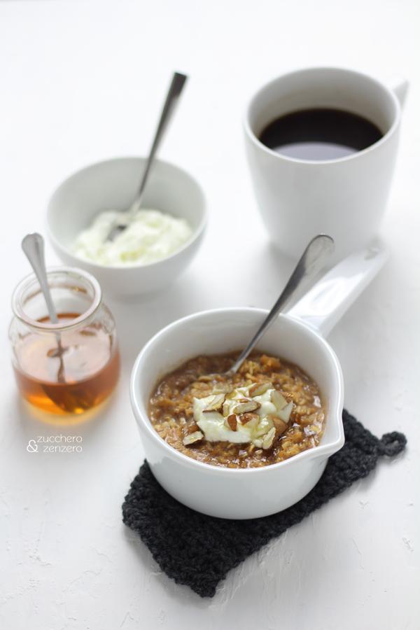 Porridge alla zucca e cannella