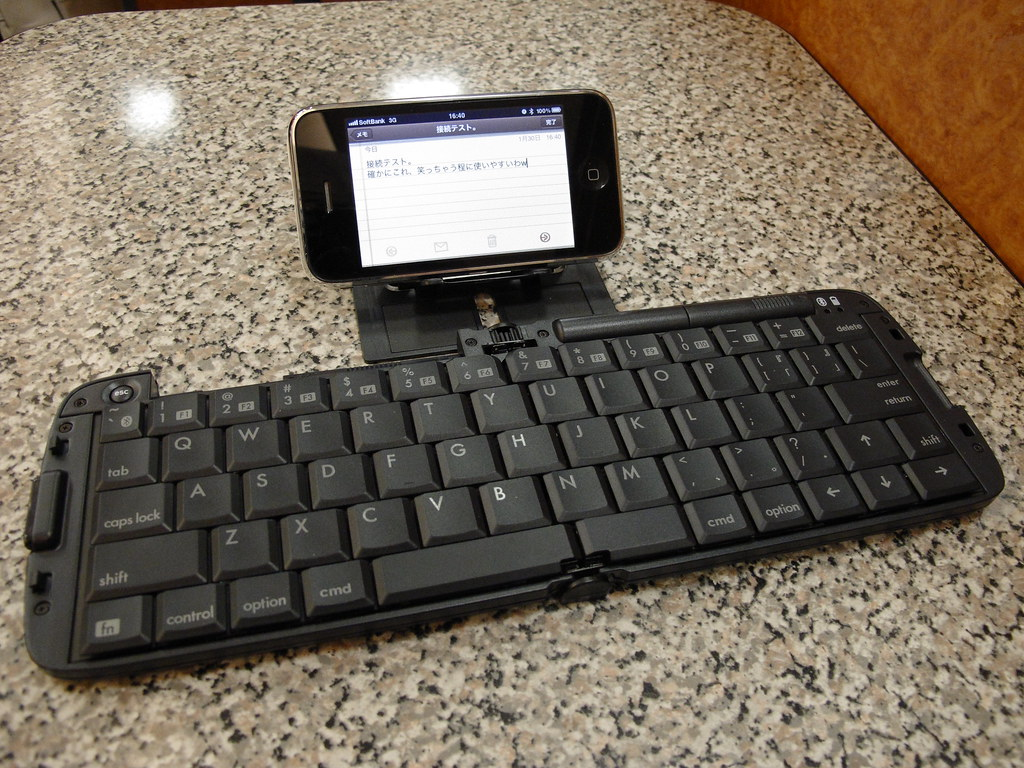 Bluetooth keyboard for iPhone.