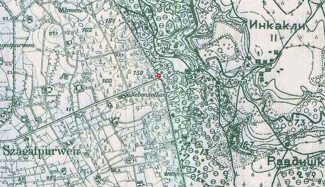 Vokiško žemėlapio fragmentas
