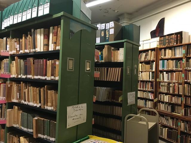Travaux à la bibliothèque Marcel Bataillon