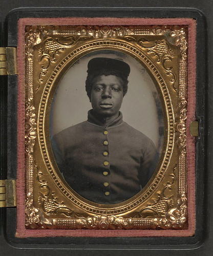 [Unidentified young African American soldier in Union uniform] (LOC) | by The Library of Congress