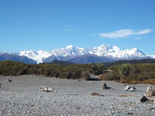 View from Gillespies Beah | by West Coast Southern Alps; Tourism West Coast