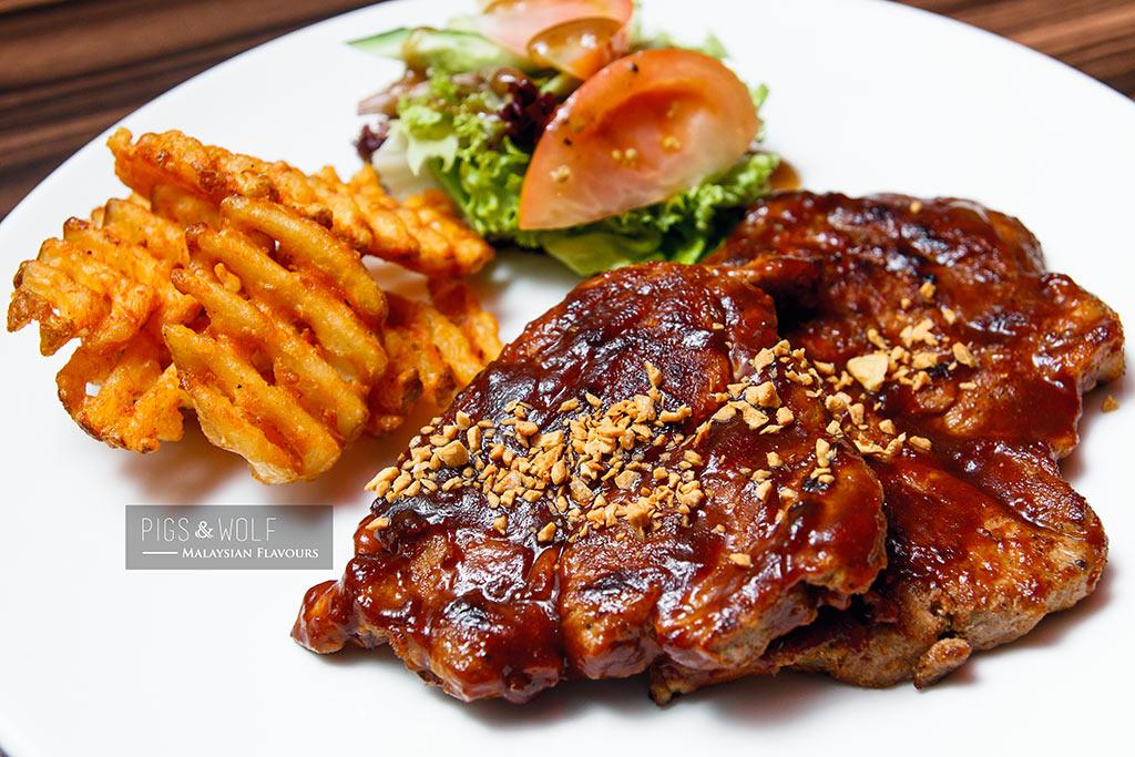 Pigs & Wolf pork steak