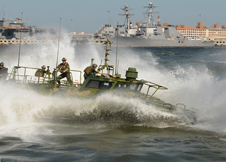Navy riverine boat runs on algae-based fuel. | by Official U.S. Navy Imagery