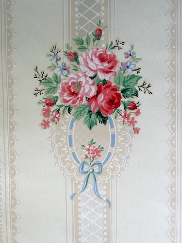 Gorgeous vintage wallpaper | by seaside rose garden