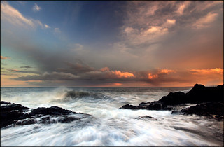 Rainclouds @ Sunset Scurdie Ness | by angus clyne