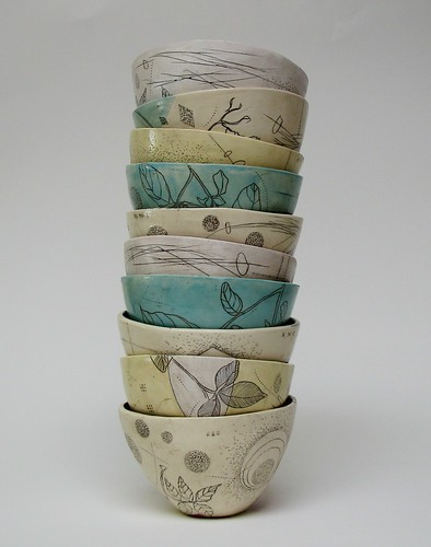 tall stack o' bowls | by diana fayt