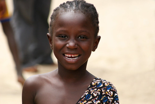 Portrait of a smiling girl in Dakar, Senegal. | by cookiesound
