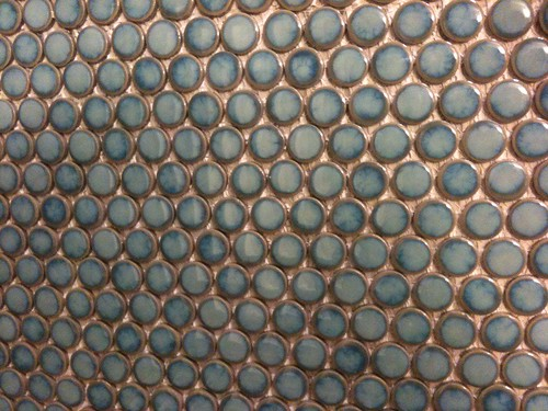 Penny Round Tile In Kitchen