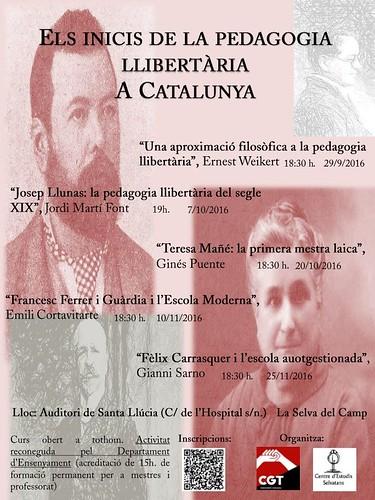 Curs sobre els inicis de la pedagogia llibertària a Catalunya a La Selva del Camp