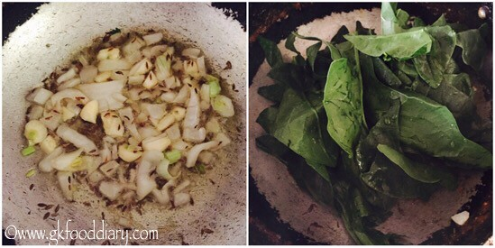 Spinach Soup Recipe for Babies, Toddlers and Kids - step 2