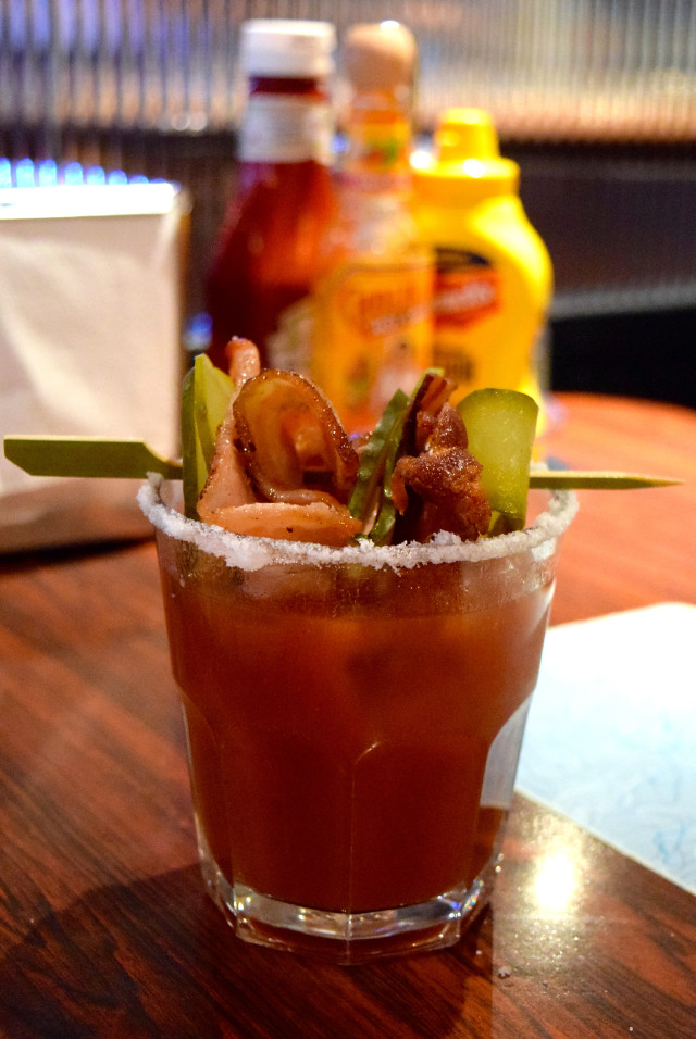 Bacon Bloody Mary at The Diner, Soho | www.rachelphipps.com @rachelphipps