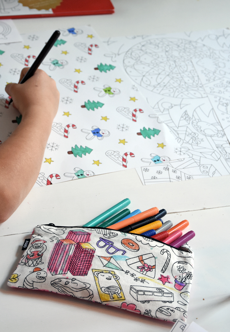 OMY - giant xmas colouring poster & place mats