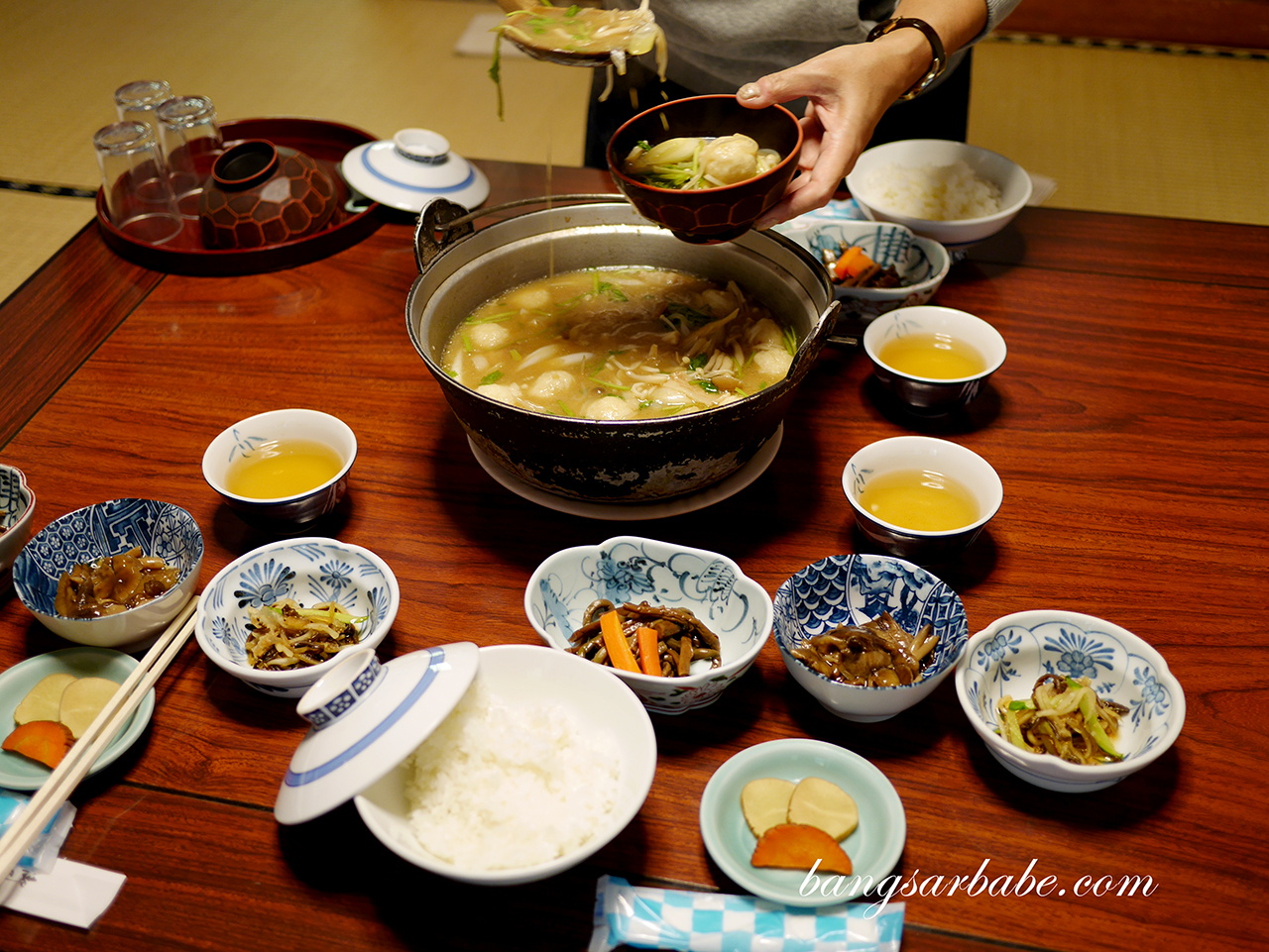 Lunch at Tsurunoyu onsen