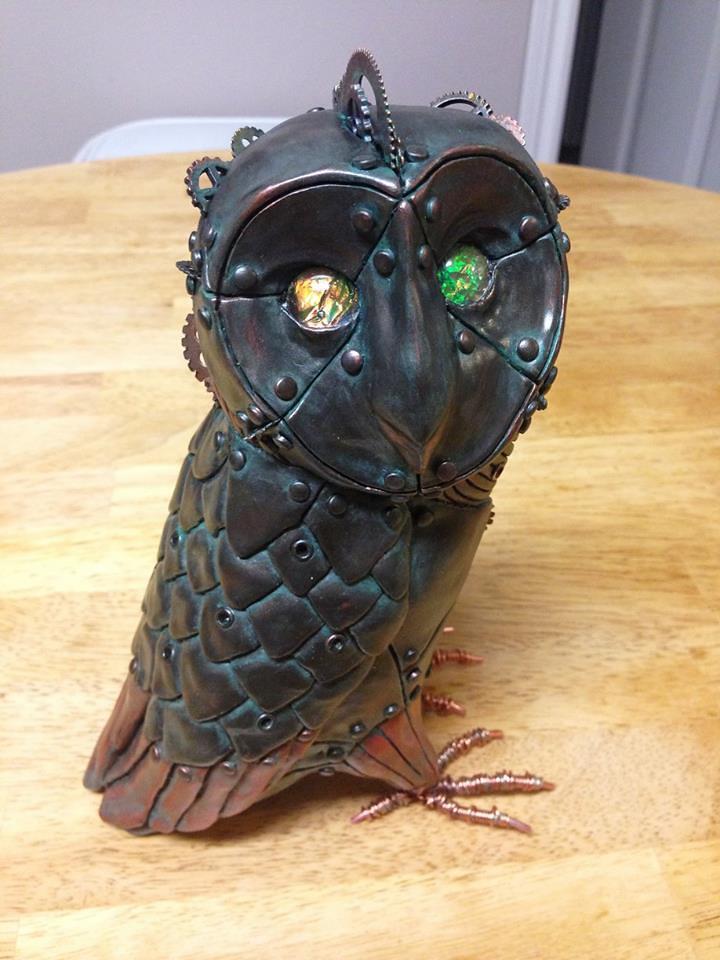 Steampunk Owl by Calder Kibyuk Designs