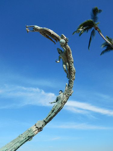 Millennium sculpture on the Malecon in Puerto Vallarta on Mexico's west coast