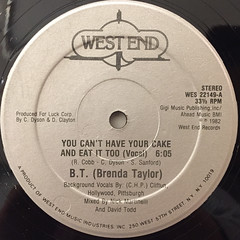 BRENDA TAYLOR:YOU CAN'T HAVE YOUR CAKE AND EAT IT TOO(LABEL SIDE-A)