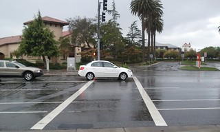 Car in the crosswalk | by Richard Masoner / Cyclelicious
