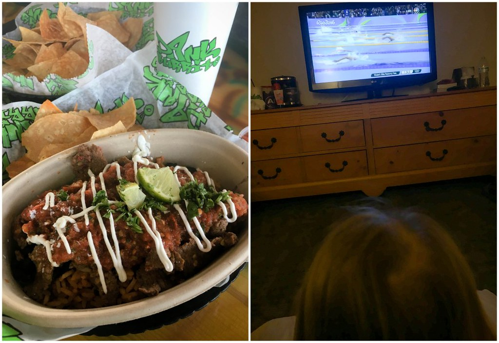 dinner and olympics